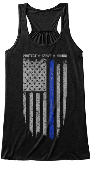 Protect Serve Honor  Black T-Shirt Front