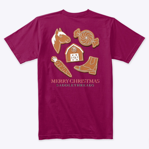 Equestrian Gingerbread Cookies Cardinal T-Shirt Back