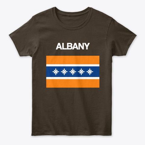Albany Flag Merchandise Dark Chocolate T-Shirt Front