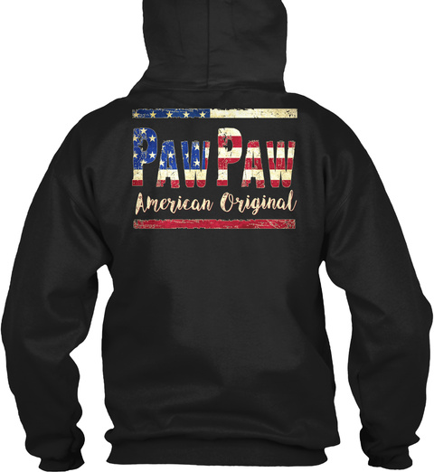 Pawpaw American Original Black Sweatshirt Back