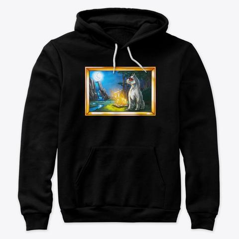 Friduwulf In The Wild Black T-Shirt Front