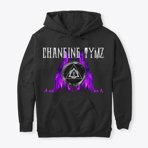 Changing Tymz Pullover Hoodie #8 Black T-Shirt Front