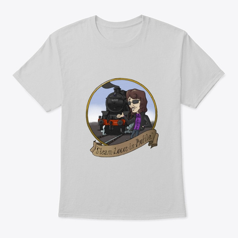 Steam Locos In Profile   Lms Black 5 Light Steel T-Shirt Front