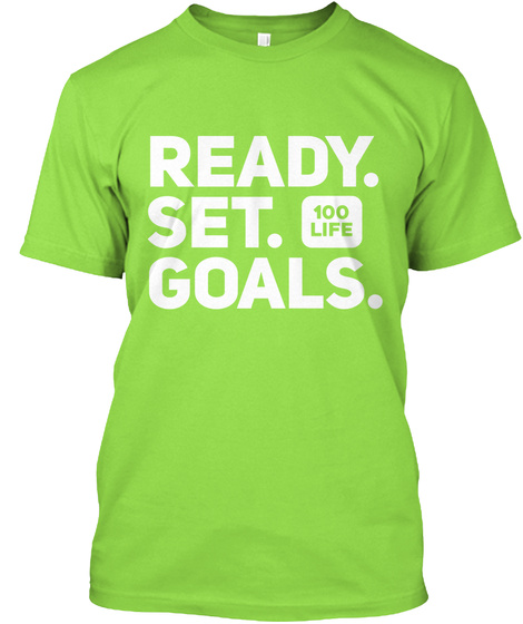 Ready Set Goals Lime áo T-Shirt Front
