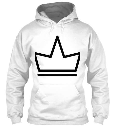 09 Queen Hoodie Arctic White T-Shirt Front
