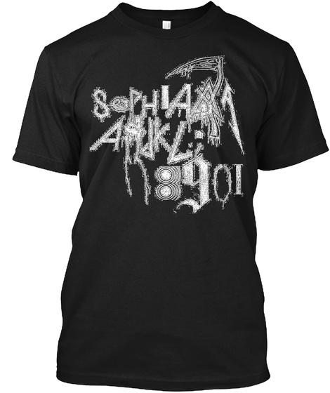 Sophia Ajkl 89oi Black T-Shirt Front