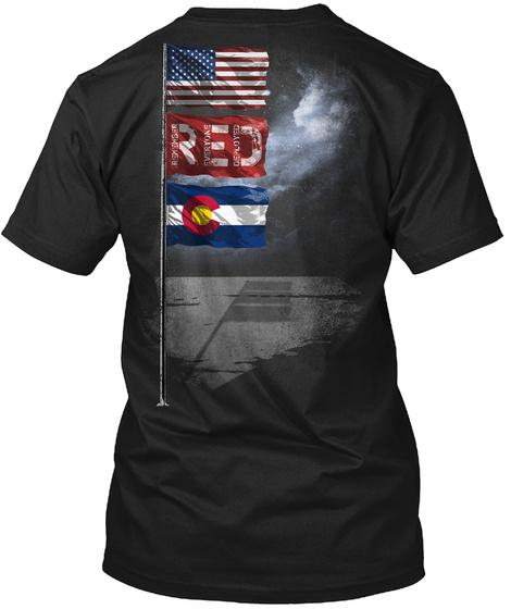 Colorado R.E.D. Flagpole Black T-Shirt Back