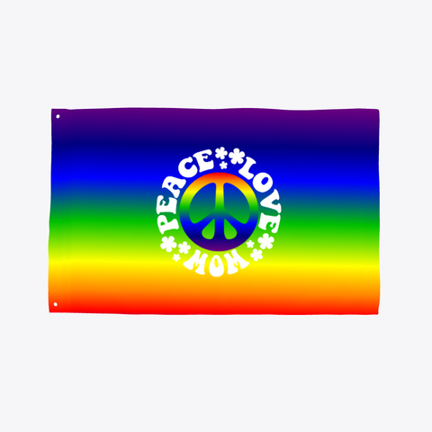 Peace Love Mom Flag Standard T-Shirt Front