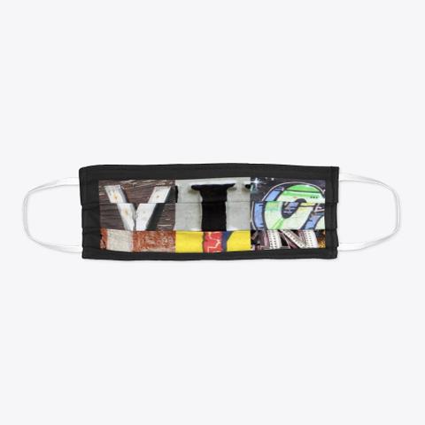 Artsy Alphabet   Violin   Face Mask Black T-Shirt Flat