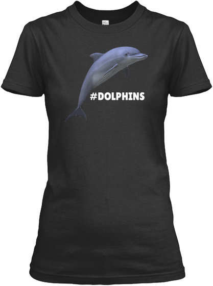 #Dolphins Black T-Shirt Front