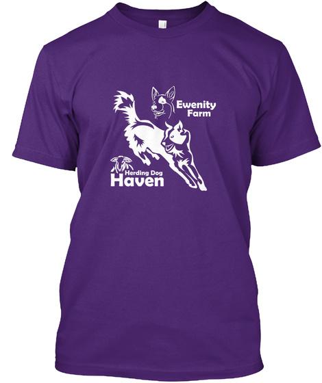 Ewenity Farm Herding Dog Haven Purple T-Shirt Front