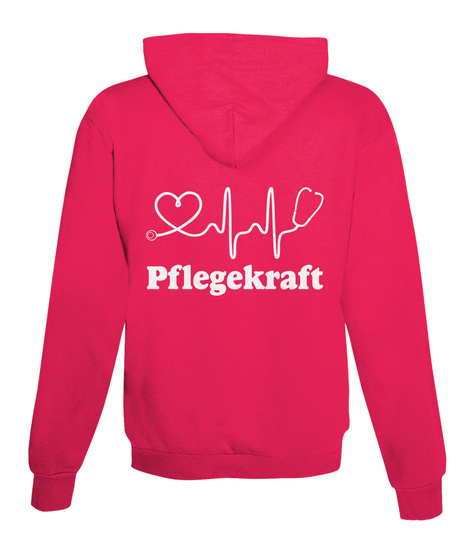 Pflegekraft Hot Pink T-Shirt Back