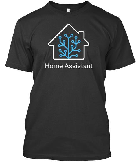 Black Home Assistant T Shirt Black T-Shirt Front