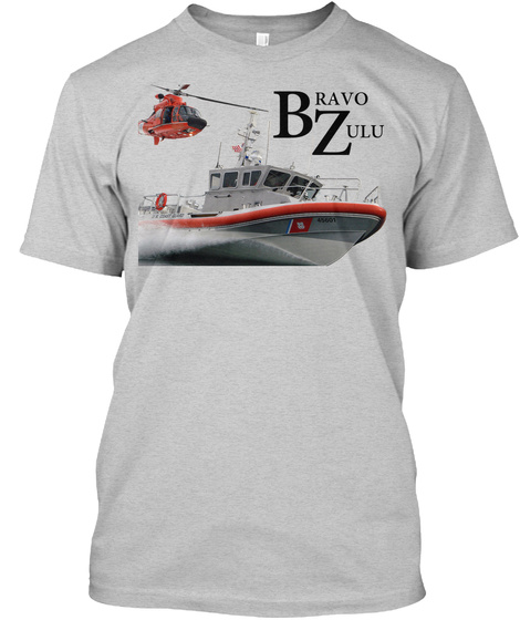 Cg Bravo Zulu T Shirt Light Steel T-Shirt Front