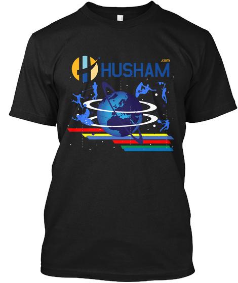 Husham Black T-Shirt Front