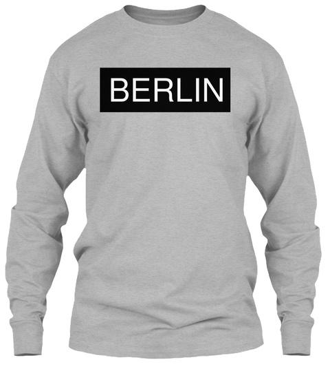 Berlin Sport Grey Long Sleeve T-Shirt Front