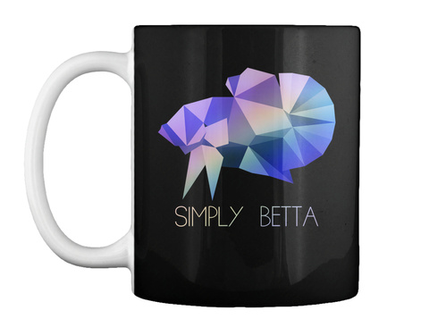 Simply Betta Black T-Shirt Front