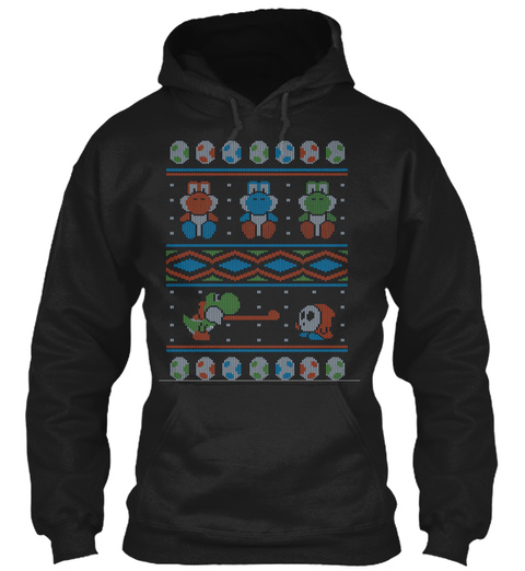 Wool Is Cool. Special Christmas Ugly Black T-Shirt Front