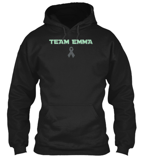Team Emma Black áo T-Shirt Front