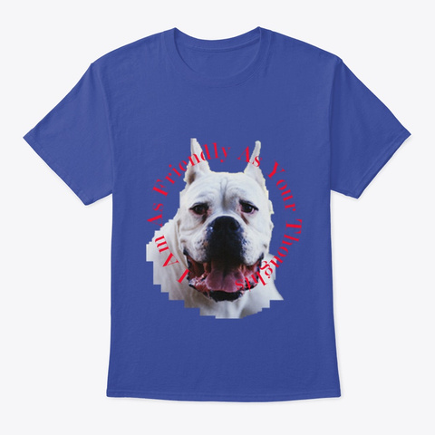 I Am One Cuddly Pooch Deep Royal T-Shirt Front