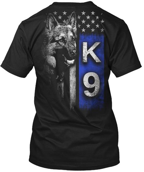 K 9 Black T-Shirt Back