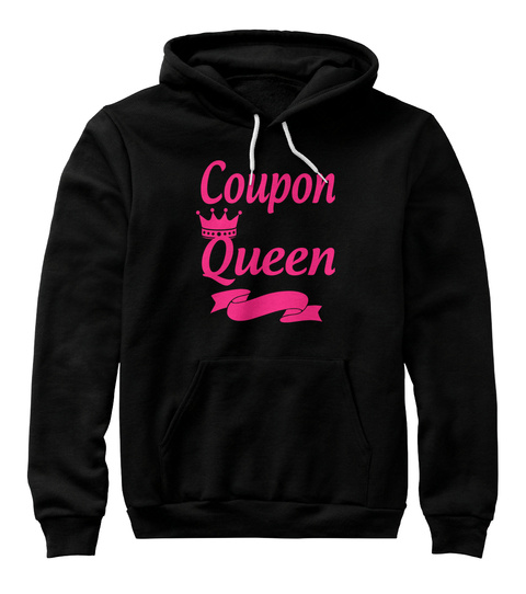 Coupon Queen Black T-Shirt Front