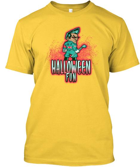 Halloween Fun Costume  Yellow T-Shirt Front
