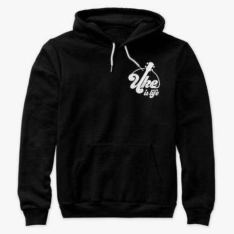 Poly Cotton Hoodie   Black  Black T-Shirt Front