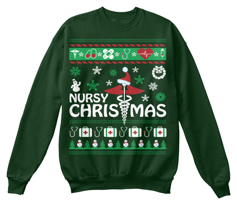Nursy Christmas Deep Forest  T-Shirt Front