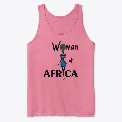 Woman Of Africa Neon Pink T-Shirt Front