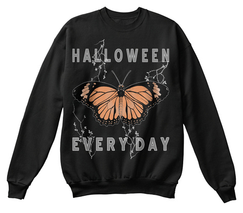 Halloween Every Day Black T-Shirt Front