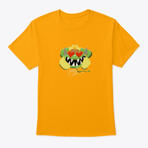 Love Dragon Gold T-Shirt Front