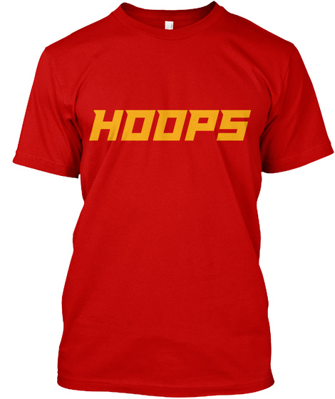 Tshirt Hoops Basketball Orange Classic Red T-Shirt Front