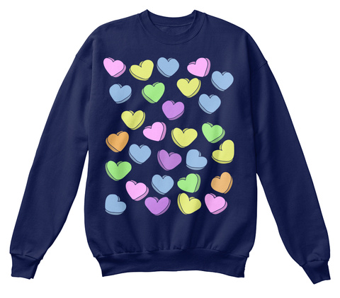 Valentine's Day Sweethearts Navy  T-Shirt Front
