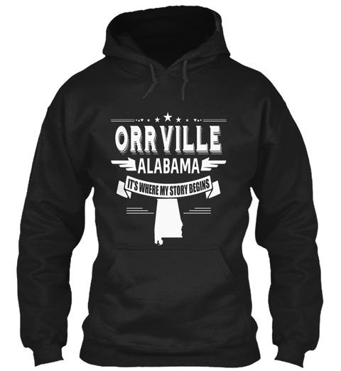 Orrville Alabama Black T-Shirt Front