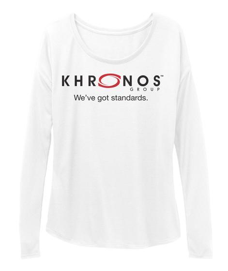 Khronos Group We've Got Standards. White T-Shirt Front