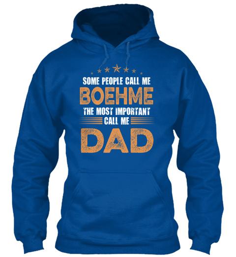 Name Boehme Dad Royal T-Shirt Front