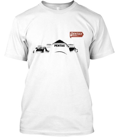 Pentax Pentax White T-Shirt Front
