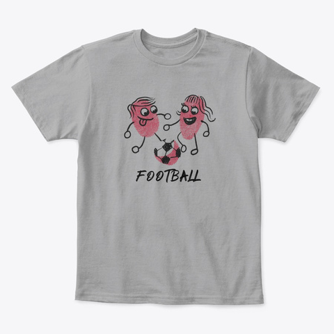 Football Kids T Shirt Light Heather Grey  T-Shirt Front
