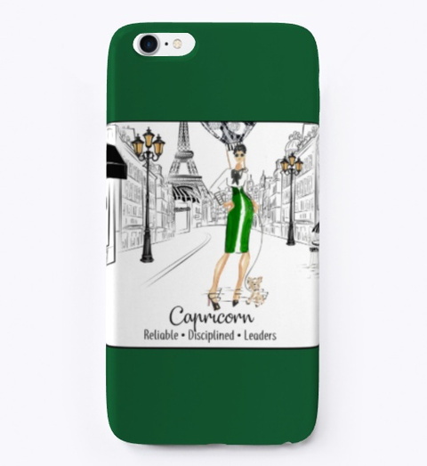 Capricorn In Paris Dark Green T-Shirt Front