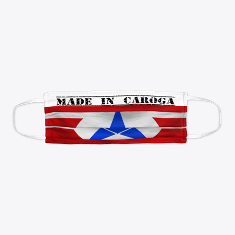 Made In Caroga Mask Standard Camiseta Flat