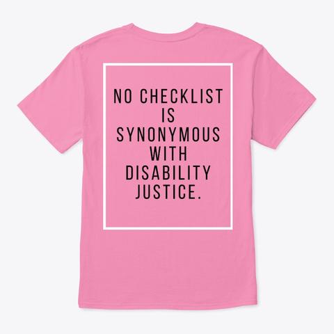 No Checklist Tee Pink T-Shirt Back