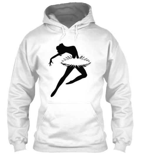 Ballerina 3d Design Art Dancing T Shirts White T-Shirt Front