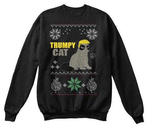Best Grumpy Cat Christmas Sweater X Mas Black T-Shirt Front