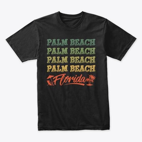 Florida Beach Shirt Summer Vacation Gift Black T-Shirt Front