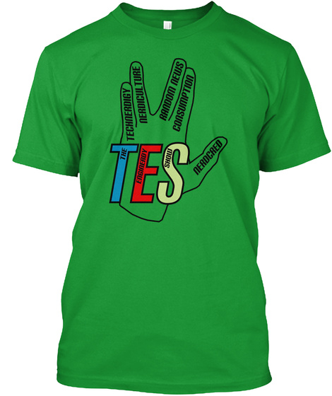 Technerdigy Nerdicul Ture Random News Consumption The Enginerdy Show Nerdcred Tes Kelly Green T-Shirt Front