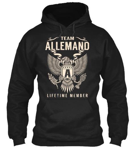 Team Allemand A Lifetime Member Black T-Shirt Front