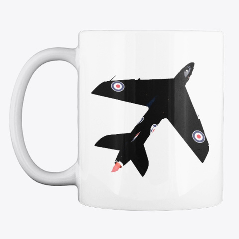 Hawker Hunter White T-Shirt Front