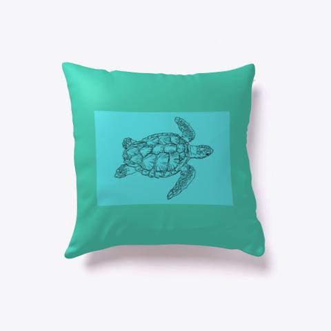 Paradise Pillow Collection   Sea Turtle Aqua T-Shirt Front