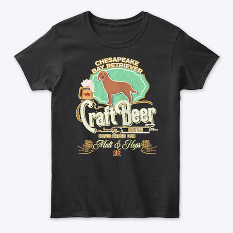 Chesapeake Bay Retriever Gifts Black T-Shirt Front